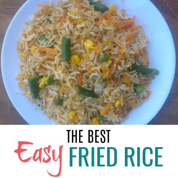 simple fried rice recipe square picture