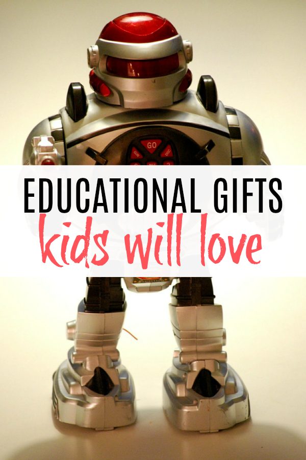 toy robot and list of educational gifts for kids