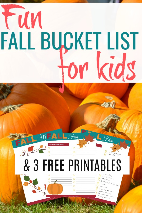 Pumpkin patch on list of fun fall activities for kids and 3 free printables