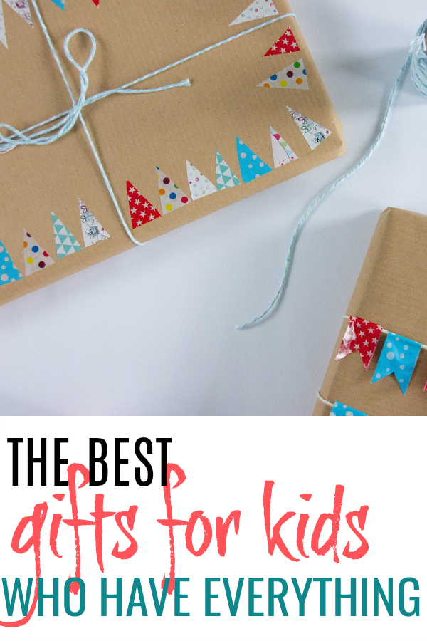 wrapped boxes taking about the best gifts for kids who have everything