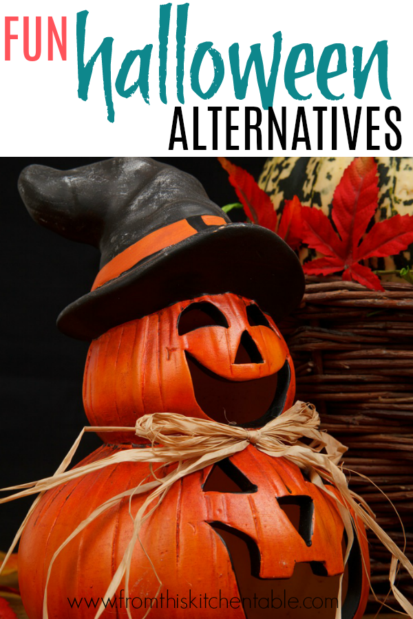 jack-o-lantern and fun halloween alterntaives