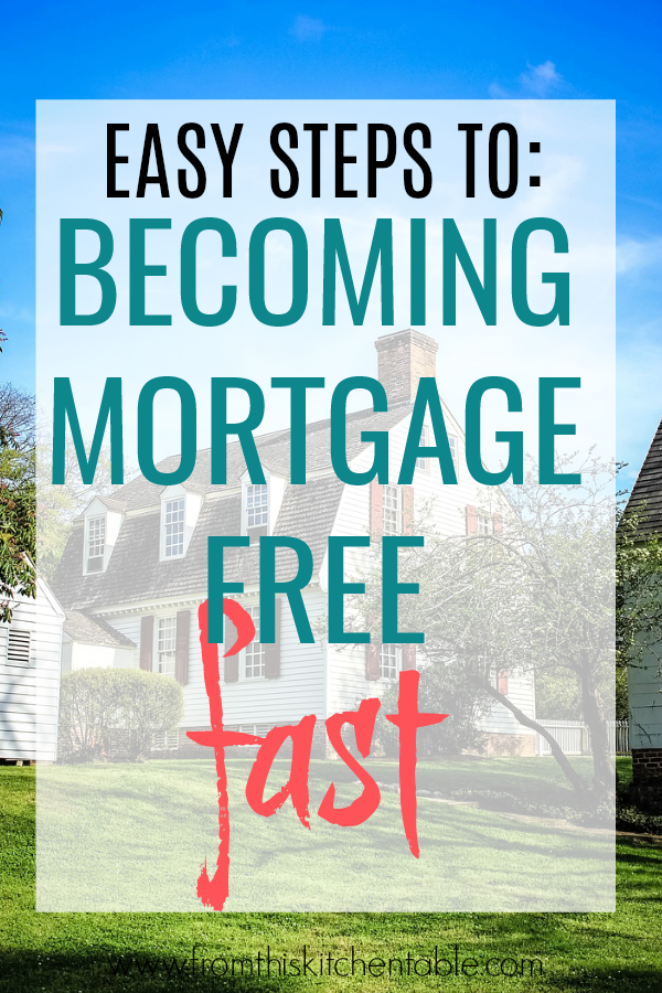 Do you want to pay off your house! Check out these great tips on how to pay off mortgage faster! Picture of beautiful home.