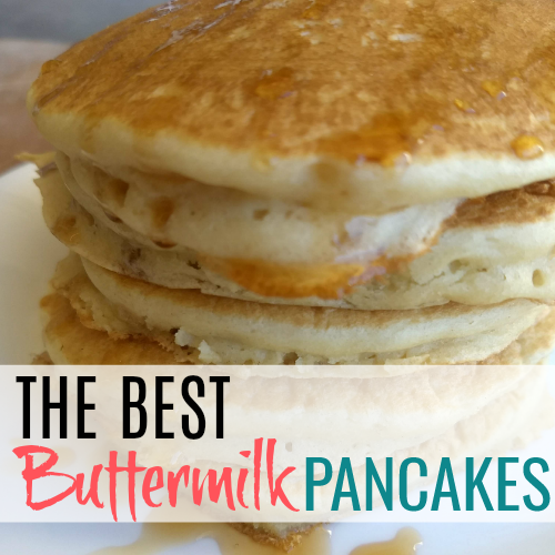 Homemade Fluffy Pancakes stacked on a plate is one of the best sights. You'll never make pancakes without these tips again.