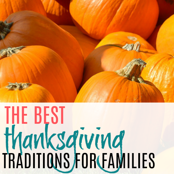 pile of pumpkins and the best Thanksgiving tradition ideas