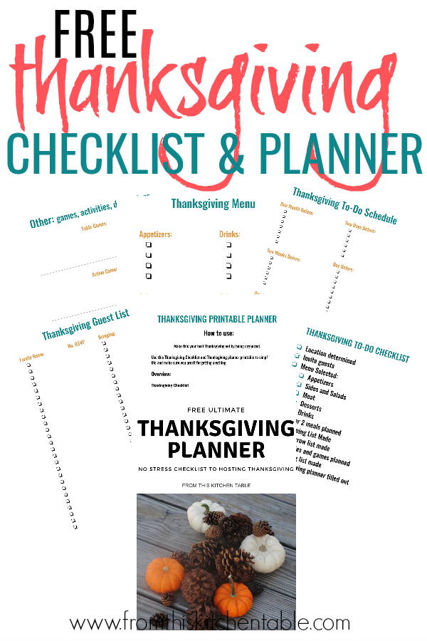 printables from our thanksgiving planner printable. Get this Thanksgiving checklist today and make hosting the big day a breeze!
