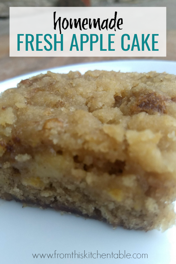 Yummy picture of this fresh apple cake is amazing - loaded with apples and a delicious crumb topping. This recipe will have you dreaming of Fall. Family favorite!