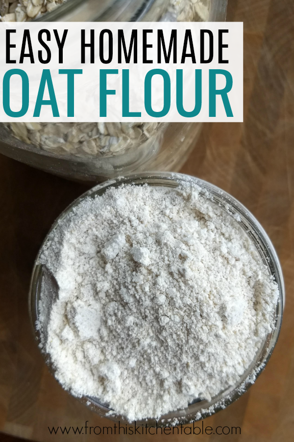 jar full of oat flour! Have you ever wondered how to make oat flour? This post will tell you how!