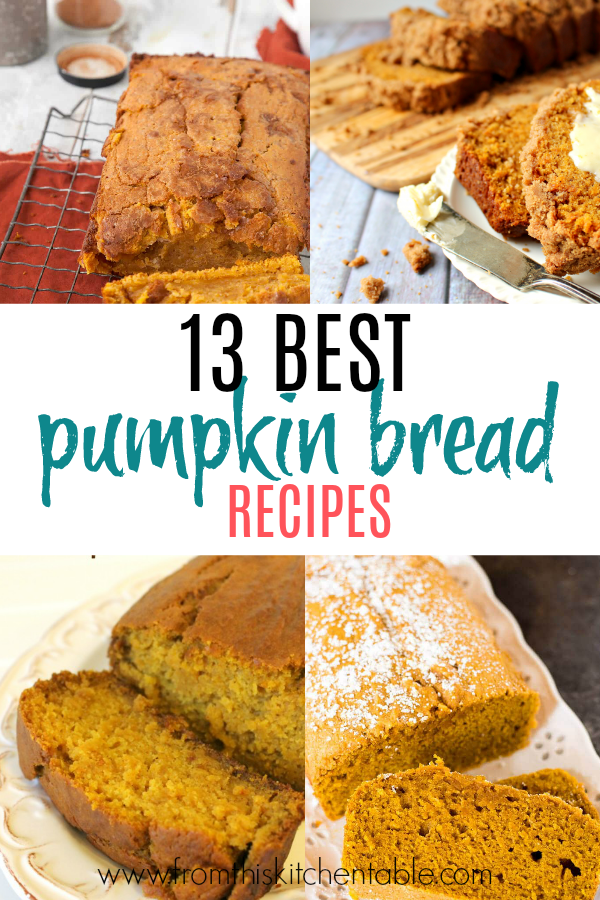 moist pumpkin bread recipes collage. These are the best.