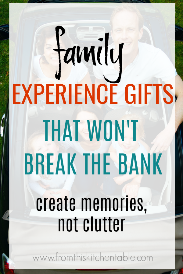 Family on a road trip! Your family will love these family experience gifts and you don't have to spend a fortune either! You can create memories, not clutter this year.