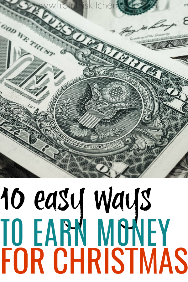 A pile of cash. If you could use some extra cash for presents and parties this Christmas, check out these easy ways to earn extra money for Christmas! Enjoy not stressing about where the money is going to come from.