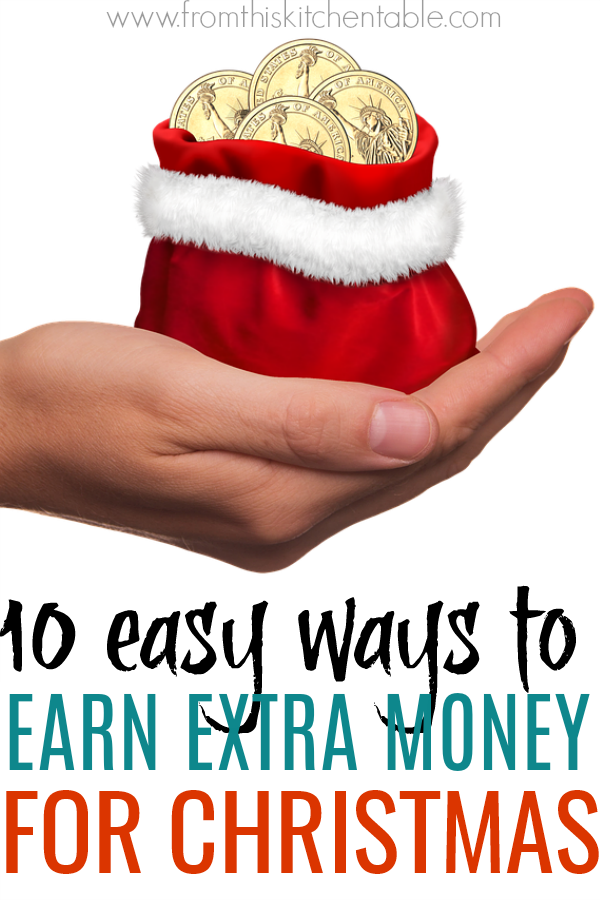Santa bag full of gold coins! If you could use some extra cash for presents and parties this Christmas, check out these easy ways to earn extra money for Christmas! Enjoy not stressing about where the money is going to come from.