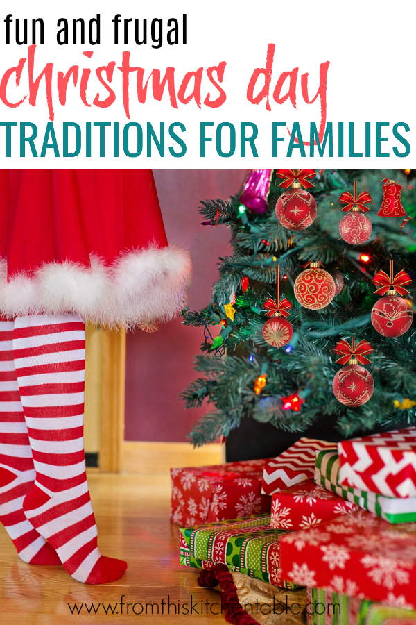 Ever wondered what are things to do on Christmas Day? Here are lots of fun and frugal Christmas family traditions you can start this year!