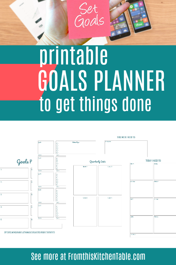 samples pages of the goals planner