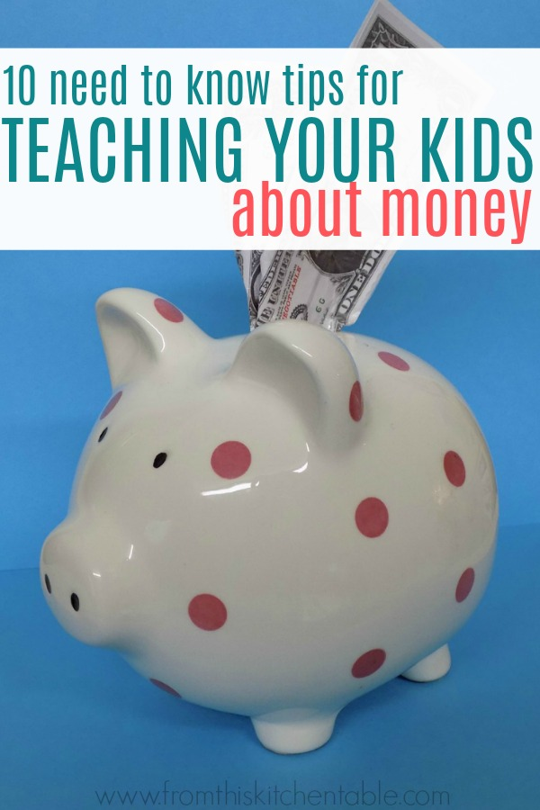 piggy bank and teaching kids about money