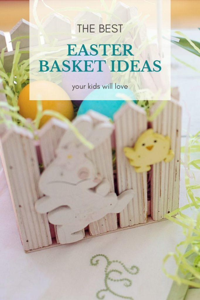 wooden easter basket