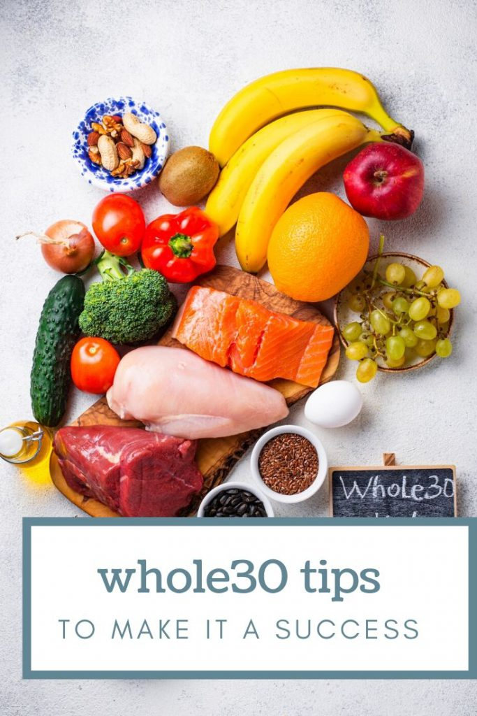 fresh produce and raw meat for whole30