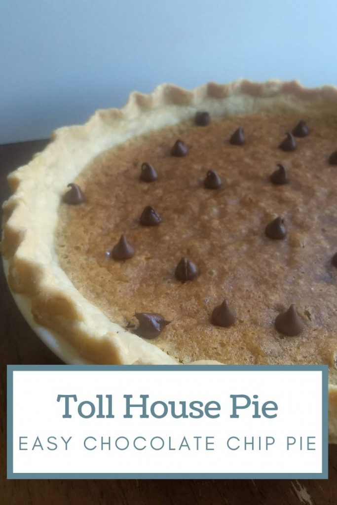 Toll House pie baked and on a table