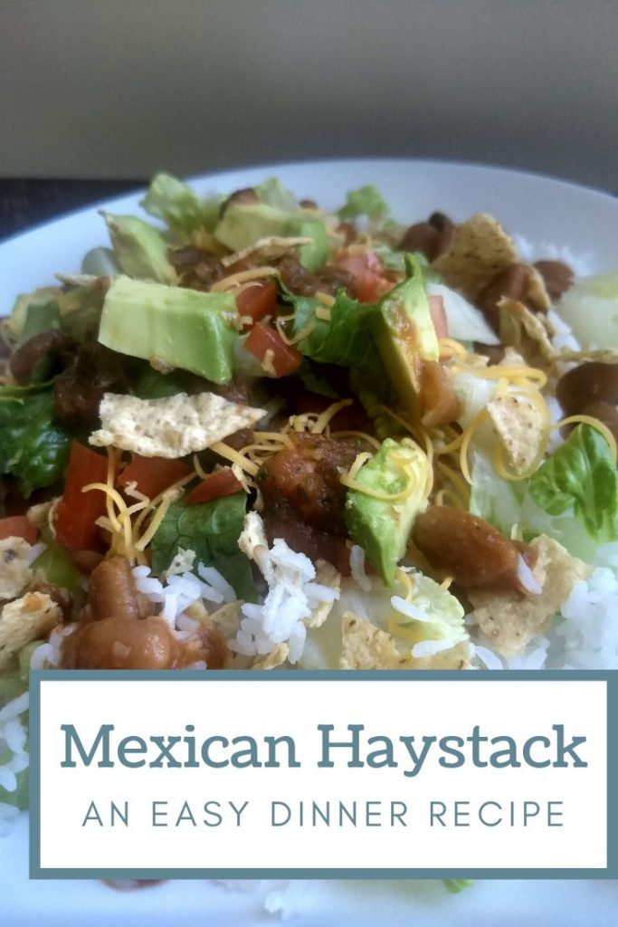 mexican haystacks ready to eat on a place