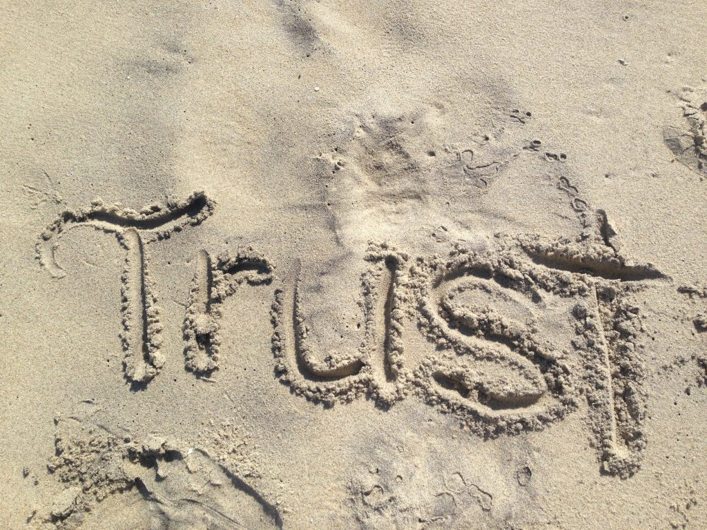 Trust written in the sand