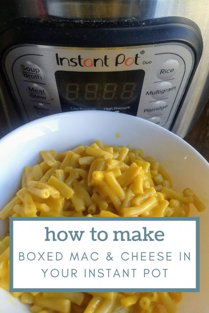 Instant Pot and a bowl of cooked Macaroni and cheese