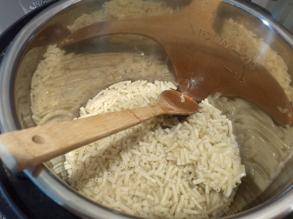 noodles cooked in the Instant Pot