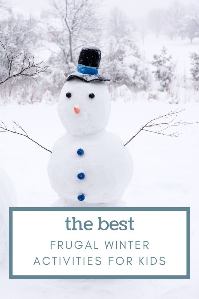 a snowman with hat and buttons for winter activities for kids.