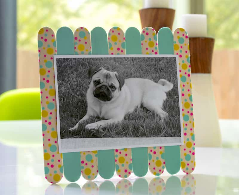 washi tape popsicle stick frame