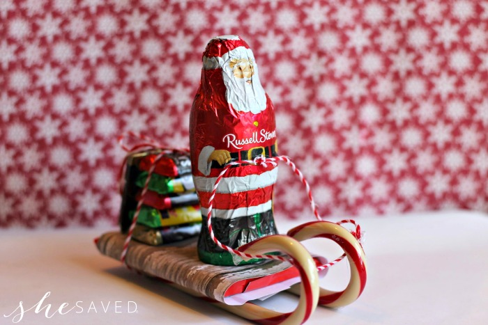 a cute candy sleigh gift idea