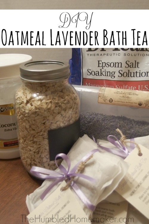 Oatmeal, lavender, and epsom salts