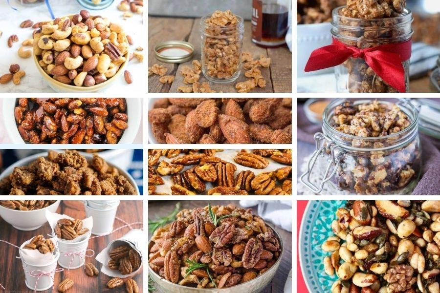 Candied and Spiced nuts for a food gift