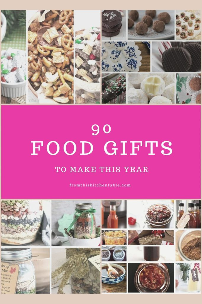 A collage of ideas of the best food gifts