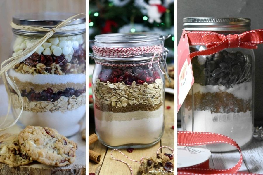 Jars of cookie mix