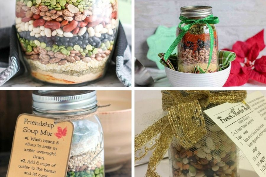 4 soup mixes to use as a food gift