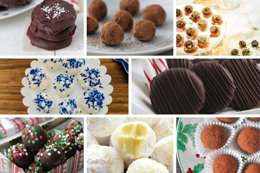 Truffles and peppermint patties for food gift ideas