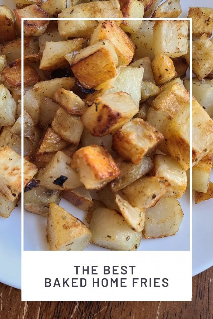 picture of baked home fries on a plate