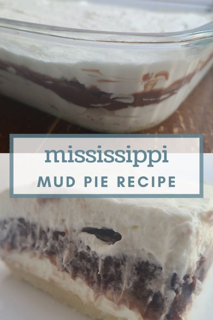 Mississippi mud pie on a plate and in the pan