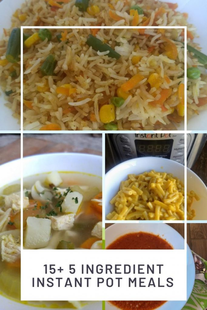pictures of 4 different 5 ingredient Instant Pot recipes